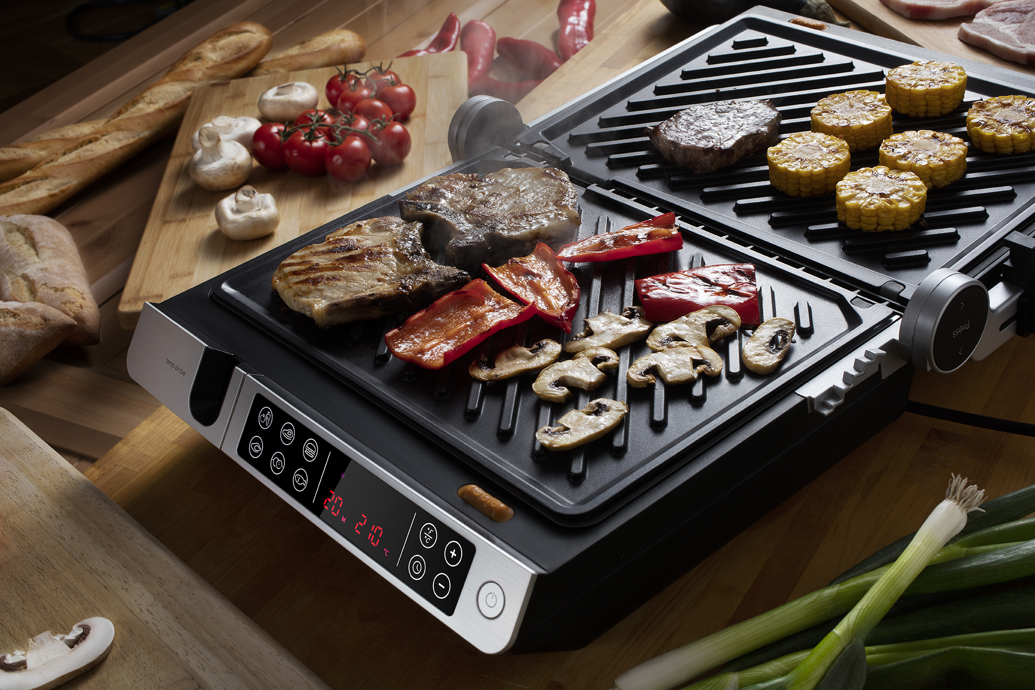 2-in-1 contact and BBQ grill